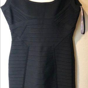 Herve Leger signature body con little blk dress